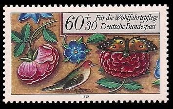 60 + 30 Pf Briefmarke: Für die Wohlfahrtspflege 1985, Miniaturen