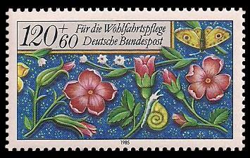 120 + 60 Pf Briefmarke: Für die Wohlfahrtspflege 1985, Miniaturen