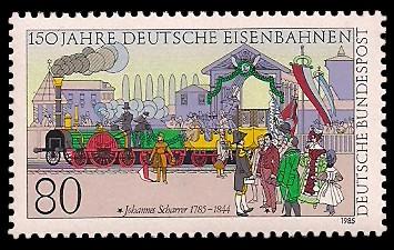 150 Jahre Deutsche Eisenbahnen Briefmarke Brd