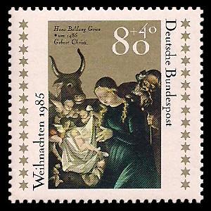 80 + 40 Pf Briefmarke: Weihnachtsmarke 1985