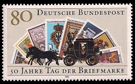 80 Pf Briefmarke: 50 Jahre Tag der Briefmarke