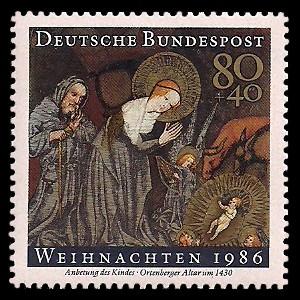 80 + 40 Pf Briefmarke: Weihnachtsmarke 1986