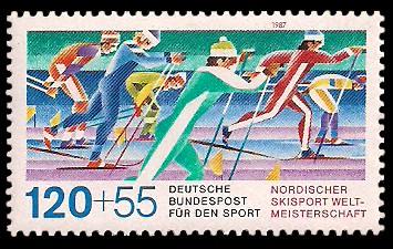 120 + 55 Pf Briefmarke: Für den Sport 1987