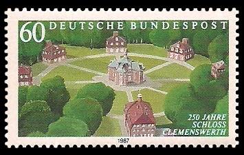 60 Pf Briefmarke: 250 Jahre Schloss Clemenswerth