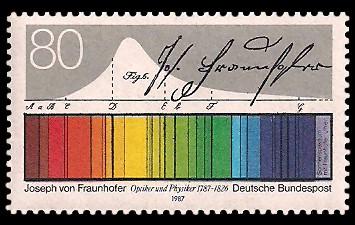 80 Pf Briefmarke: 200. Geburtstag Joseph von Fraunhofer