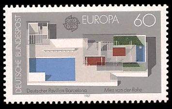 60 Pf Briefmarke: Europamarke 1987