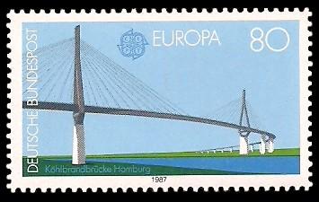 80 Pf Briefmarke: Europamarke 1987