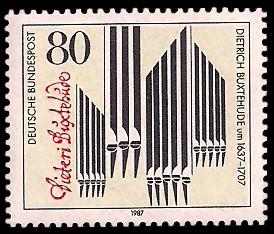 80 Pf Briefmarke: 350. Geburtstag Dietrich Buxtehude