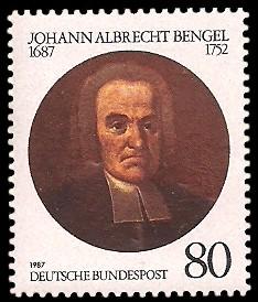 80 Pf Briefmarke: 300. Geburtstag Johann Albrecht Bengel