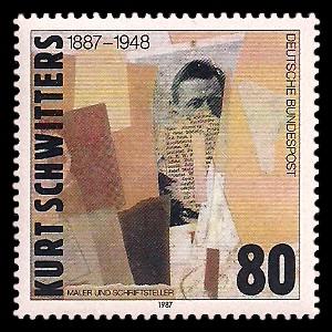 80 Pf Briefmarke: 100. Geburtstag Kurt Schwitters