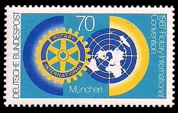 70 Pf Briefmarke: Rotary International Convention