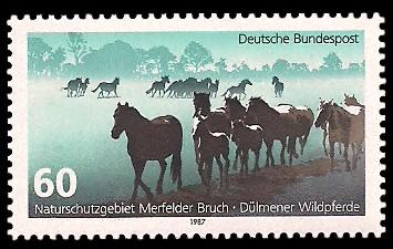 60 Pf Briefmarke: Naturschutzgebiet Merfelder Bruch