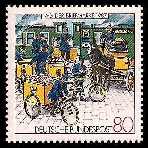 80 Pf Briefmarke: Tag der Briefmarke 1987