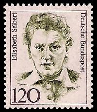 120 Pf Briefmarke: Frauen der deutschen Geschichte