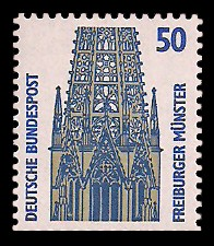 50 Pf Briefmarke: Serie Sehenswürdigkeiten