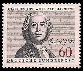 60 Pf Briefmarke: 200. Todestag Christoph Willibald Gluck