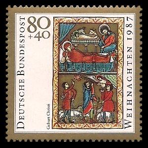 80 + 40 Pf Briefmarke: Weihnachtsmarke 1987