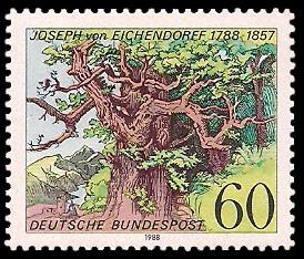 60 Pf Briefmarke: 200. Geburtstag Joseph von Eichendorff