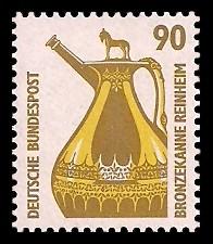 90 Pf Briefmarke: Serie Sehenswürdigkeiten