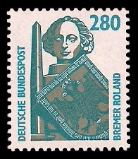 280 Pf Briefmarke: Serie Sehenswürdigkeiten