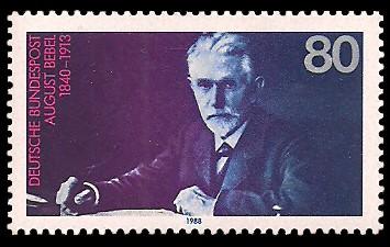 80 Pf Briefmarke: 75. Todestag August Bebel