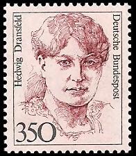 350 Pf Briefmarke: Frauen der deutschen Geschichte
