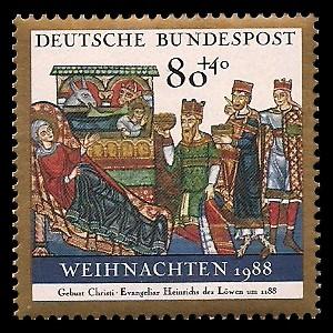 80 + 40 Pf Briefmarke: Weihnachtsmarke 1988