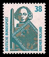 38 Pf Briefmarke: Serie Sehenswürdigkeiten