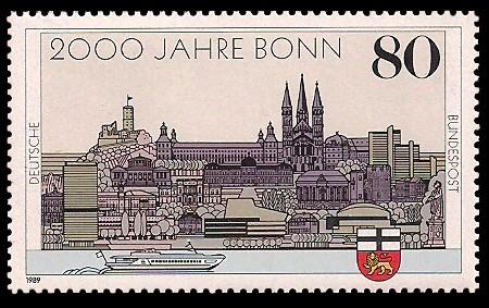 80 Pf Briefmarke: 2000 Jahre Bonn