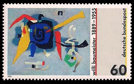 60 Pf Briefmarke: 100. Geburtstag Willi Baumeister