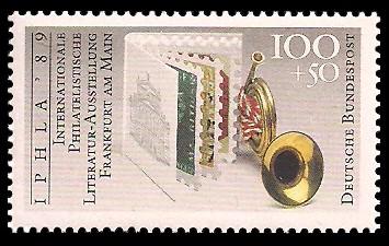 100 + 50 Pf Briefmarke: IPHLA '89