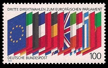100 Pf Briefmarke: Dritte Direktwahlen zum Europäischen Parlament