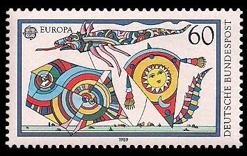 60 Pf Briefmarke: Europamarke 1989
