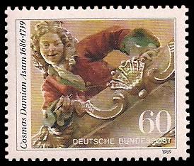 60 Pf Briefmarke: 250. Todestag von Cosmas Damian Asam