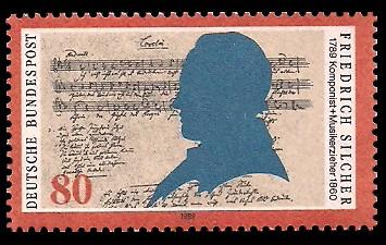 80 Pf Briefmarke: 200. Geburtstag Friedrich Silcher