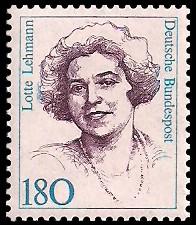 180 Pf Briefmarke: Frauen der deutschen Geschichte