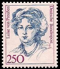 250 Pf Briefmarke: Frauen der deutschen Geschichte
