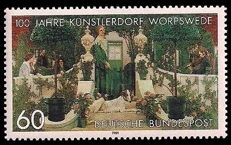 60 Pf Briefmarke: 100 Jahre Künstlerdorf Worpswede