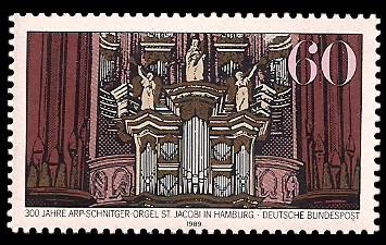 60 Pf Briefmarke: 300 Jahre Arp-Schnitger-Orgel