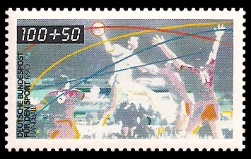 100 + 50 Pf Briefmarke: Für den Sport 1990