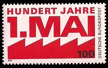 100 Pf Briefmarke: hundert Jahre 1. Mai