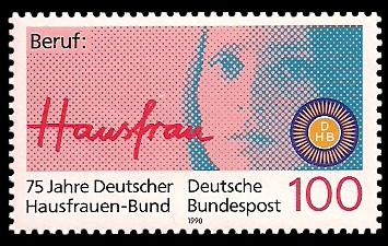 100 Pf Briefmarke: 75 Jahre Deutscher Hausfrauen-Bund