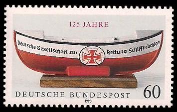 60 Pf Briefmarke: 125 Jahre Deutsche Gesellschaft zur Rettung Schiffbrüchiger