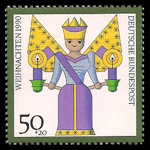 50 + 20 Pf Briefmarke: Weihnachtsmarke 1990, Kunsthandwerk-Weihnachtsfiguren