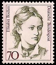 70 Pf Briefmarke: Frauen der deutschen Geschichte