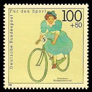 100 + 50 Pf Briefmarke: Für den Sport 1991