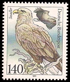 140 Pf Briefmarke: Wasser- /Seevögel