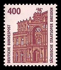 400 Pf Briefmarke: Serie Sehenswürdigkeiten