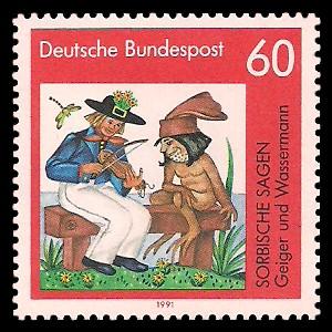 60 Pf Briefmarke: Sorbische Sagen