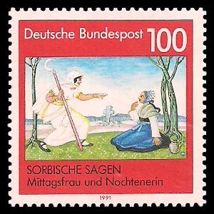 100 Pf Briefmarke: Sorbische Sagen